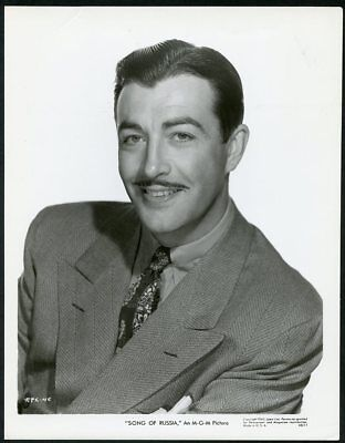 """ROBERT TAYLOR Original Vintage 1943 MGM PORTRAIT Photo """"SONG OF RUSSIA"""""""
