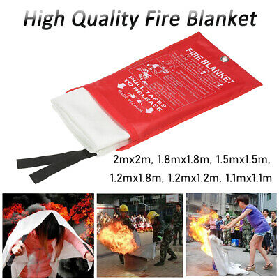Home Safety Fire Blanket Large 1.21-4m² In Case Quick Release Protection Kitchen