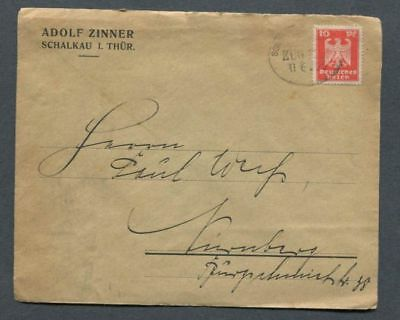 German Reich : Cover with train cancel from 1925