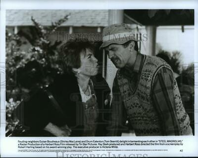 1989 Press Photo Shirley MacLaine and Tom Skerrit star in Steel Magnolias.