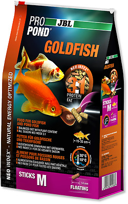 JBL Pro Pond Goldfish Extra Small Medium Floating Pond Sticks Fish Food Koi