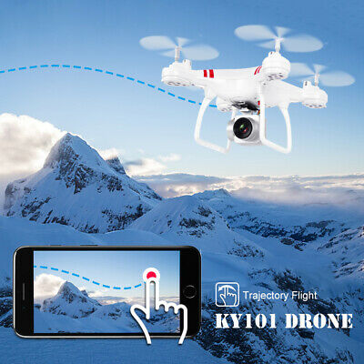 KY101 2.4G 4CH 6Axis FPV Drone With LED Wifi 2.0MP HD Camera RC Quadcopter US GO