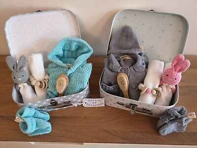 Baby Layette Baskets, Unisex, Knitted Accessories, Gift,