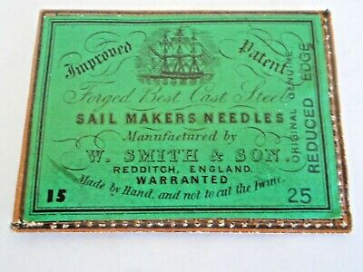Vintage W Smith & Sons Sailmakers No. 15 Sewing Needles--5 in Orig. Envelope