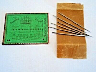 Vintage W Smith & Sons Sailmakers No. 14 Sewing Needles--6 in Orig. Envelope