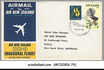 1966 Air New Zealand Dc-8 First Flight Cover Sydney-hong Kong Flown Bs Other Airline Collectibles