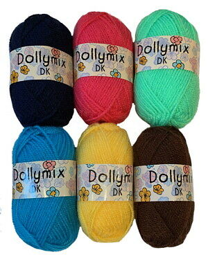 King Cole Dolly Mix Double Knitting Yarn Toys Dolls Clothes 6 x 25g balls