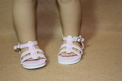 Doll Clothes fitting 18 in American Girl Dolls Pale Pink Strappy Sandals
