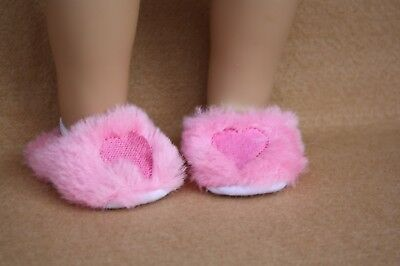 """Pink Scuff Slippers Fits 18/"""" American Girl Dolls"""