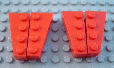 LEGO Lot of 2 Pair of Black 4x2 Curved Wedge Pieces
