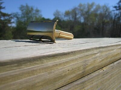 Nice 1946-1950 Gillette Fat Handle Tech DE Safety Razor Gold Tone