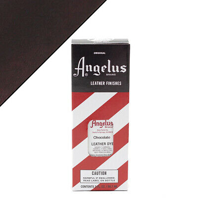 C--015 Angelus Permanent Leather Dye With Applicator 3Oz Chocolate