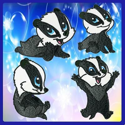 CUTE BABY BADGER  10 MACHINE EMBROIDERY DESIGNS CD or USB