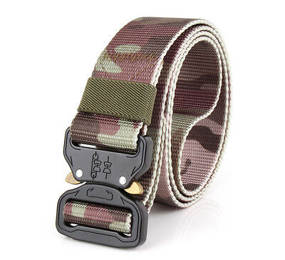 Tactical Heavy Duty Camouflage Belts Army Carry Waist Belt Mens Military Combat
