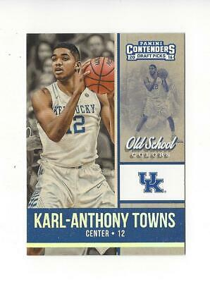 2016-17 Contenders Draft Picks Old School Colors #11 Karl-Anthony Towns Kentucky