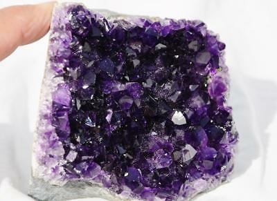 "7632 Super Purple Amethyst Geode Cathedral URUGUAYAN 3.2"" Free Standing 81mm"