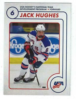 Jack Hughes 2018/19 USA NTDP Team Issued 1st Ever Card