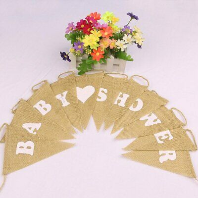 Rustic Baby Shower Bunting Banner It's A Boy Girl Party Garland Photo Props S XX