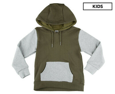 Gem Look Junior Boys' Contrast Hoodie - Khaki