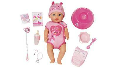 Baby Born Soft Touch Girl Doll Drink Water And Eat The Food Provided NEW_UK