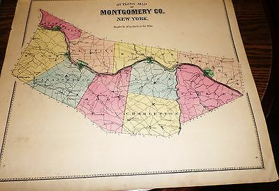 Original 1868 Montgomery County Map Towns And Villages Shown