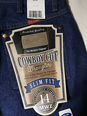 4c0fa28c NWT Wrangler Jeans Cowboy Cut Slim Fit Womens size 11 X 36 Button Fly 14 MWZ