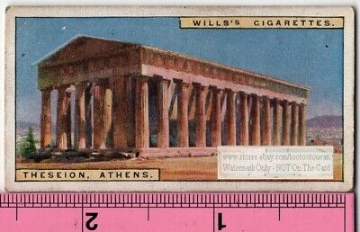 Temple of Hephaestus Greek Greece Thesseion Athens 90+  Y/O Ad Trade Card
