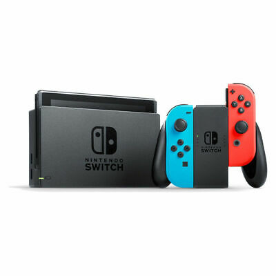 Nintendo Switch 32 GB Console: Neon Red/Neon Blue Brand New Region Free