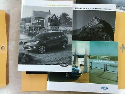 2017 Ford Escape Owners Manual Case Driver