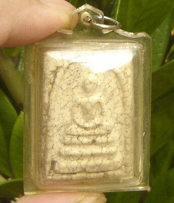 Locket Fired Clay Pra Somdaj Wat Rakang Thai Saint& famous Monk