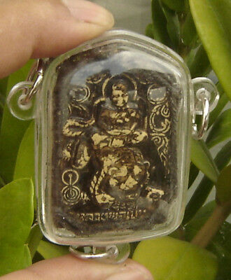 """Locket tablet Fired clay monk ride tiger""""LP Purn"""""""