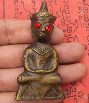 "Statue bronze Buddha God of the angkor Khmer country Red Eye""Pra Ngang"""