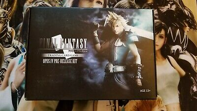 Final Fantasy TCG (FFTCG) Opus IV Prerelease Kit (Rare Out of Print Collectible)