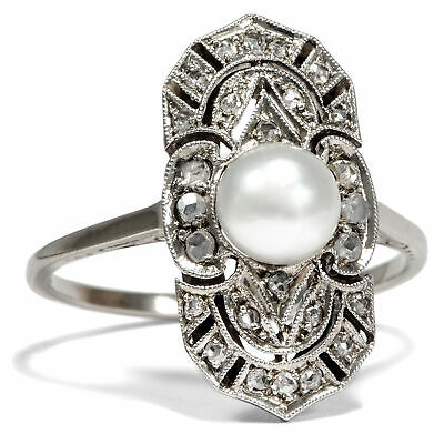 bague or blanc style ancien