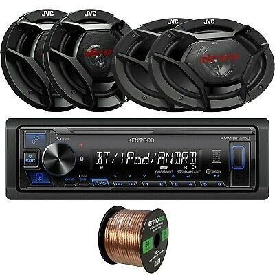 "Kenwood Bluetooth Receiver, 2 x 6.5"" Speakers, 2 x 6x9"" Speakers, Speaker Wire"