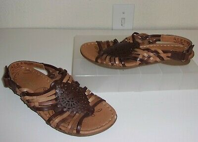 b5069c52fdaf Naturalizer N5 Comfort Brown Beige Tan Woven Huarache Sandals Size 6.5 1 2  Shoes