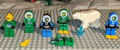 LEGO Lot of 2 White Arctic Ogel Orb Minifig Heads