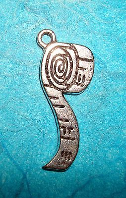 Pendant Measuring Tape Charm Sewing Charm Seamstress Tailor Charm Crafting Charm