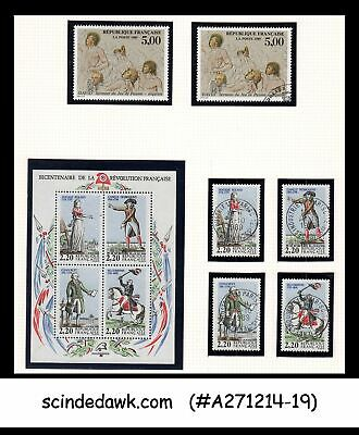 France - 1989 Bicentenary Of French Revolution Set Of 1-M/S & 6-Stamps