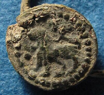 Crusaders Bronze Ring with LION Circa 12 Century AD. Christian Crusader bronze.