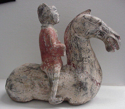 Han Dynasty Chinese Tomb Terracotta pottery Horse & Seperate Rider Authentic