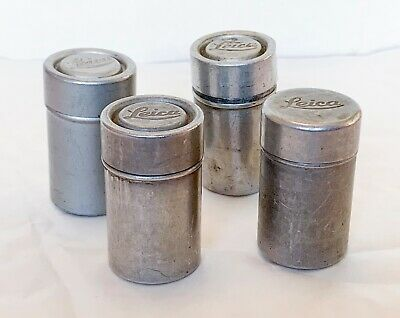 4 x Vintage Leica Film Canisters, and Reloadable Casette's