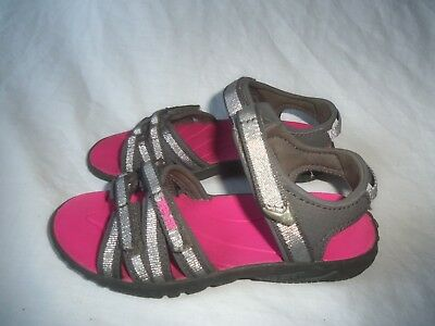 e34bdf450 Teva 1004877 Tirra Gray Silver Pink Strappy Slingback Water Sandals Shoe  Size 11