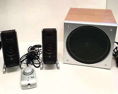 039c73456c9 Logitech Z3 2.1 woodgrain computer pc laptop Speakers with sub woofer tested