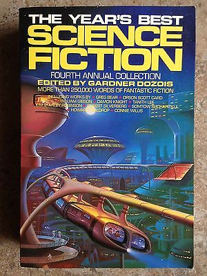 THE YEAR'S BEST SCIENCE FICTION Fourth Annual Collection Gardner Dozois 1st 1987