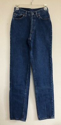 Vtg Levis 544 Button Fly Mom Jeans Slim Tapered 24 x 31 High Waist 80's Size 7