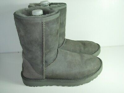 e45730b7939 WOMENS UGG GRAY Suede Shearling Sheepskin Calf High Boots Winter Shoes Size  7 M