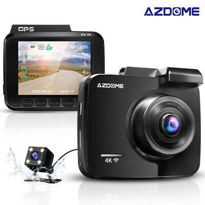 AZDOME GS63H 4K 2160P Car Camera Dashcam WiFi DVR GPS Night Vision+VGA Rear Cam