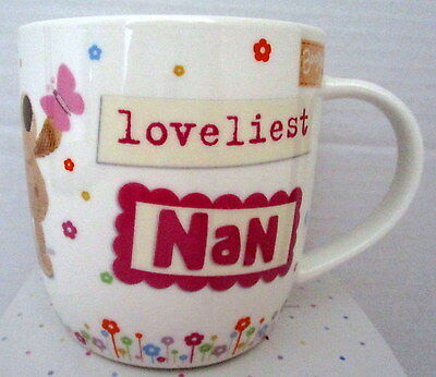 """boofle"" China Mug ""loveliest Nan In The World"" Gift Boxed! Mother's Day Gift!"