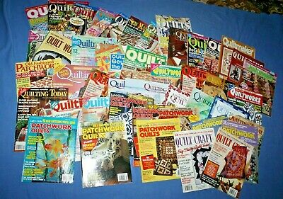 Lot of 45 Quilt Magazines Quilting Patterns 1990's to 2000's